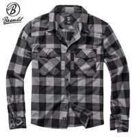 Check Shirt Black-Charcoal Flanel Overhemd Heren