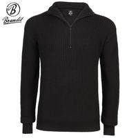 `Marine Pullover Troyer Sweater Zwart Heren