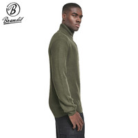 Marine Pullover Troyer Sweater Olive Heren