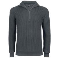 Marine Pullover Troyer Sweater Antraciet Heren