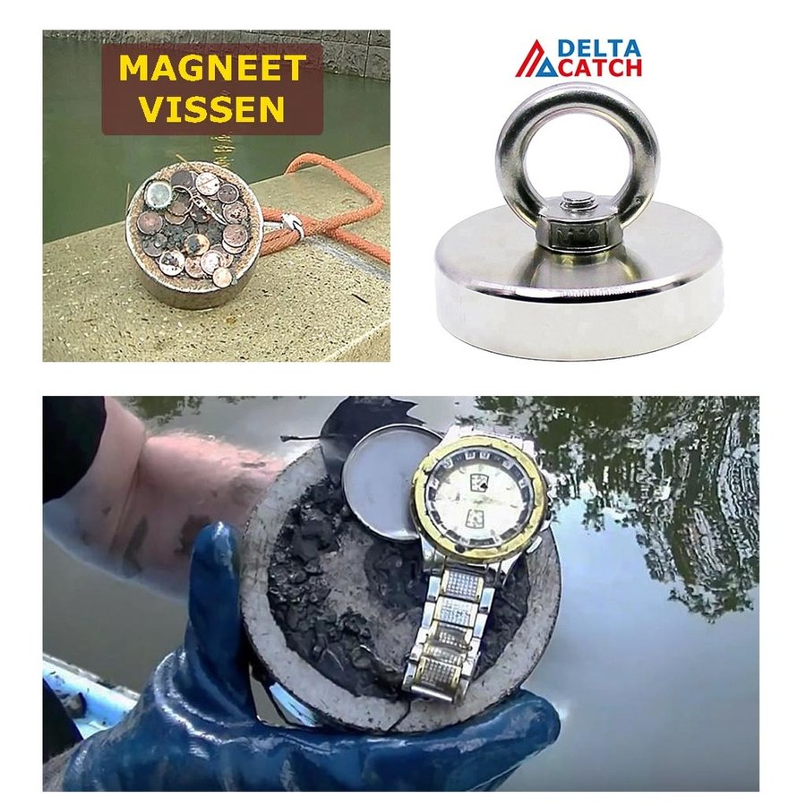 Vismagneet 60 X 15 MM  | 140 KG