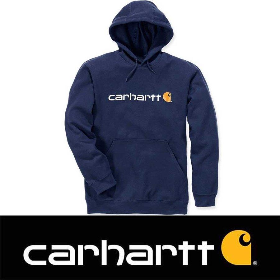 Signature Logo Hooded New Navy Sweatshirt
