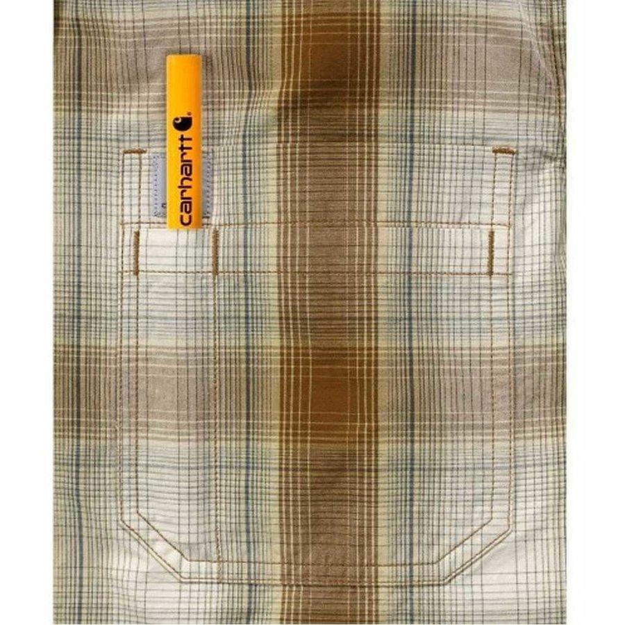 Essential Plaid Oiled Walnut Shirt Heren