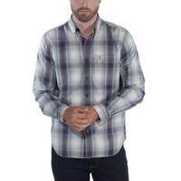 Essential Plaid Blue Stone Overhemd Heren
