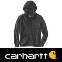 Force Delmont Zip Hooded Black Heather Sweatshirt Heren