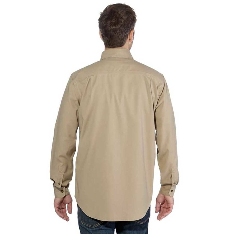 Rugged Flex Rigby LS Dark Khaki Werkshirt Heren