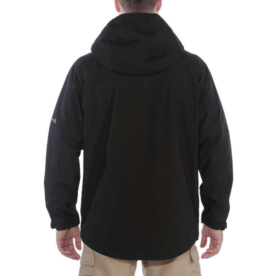 Force Hooded Black Regenjack Heren