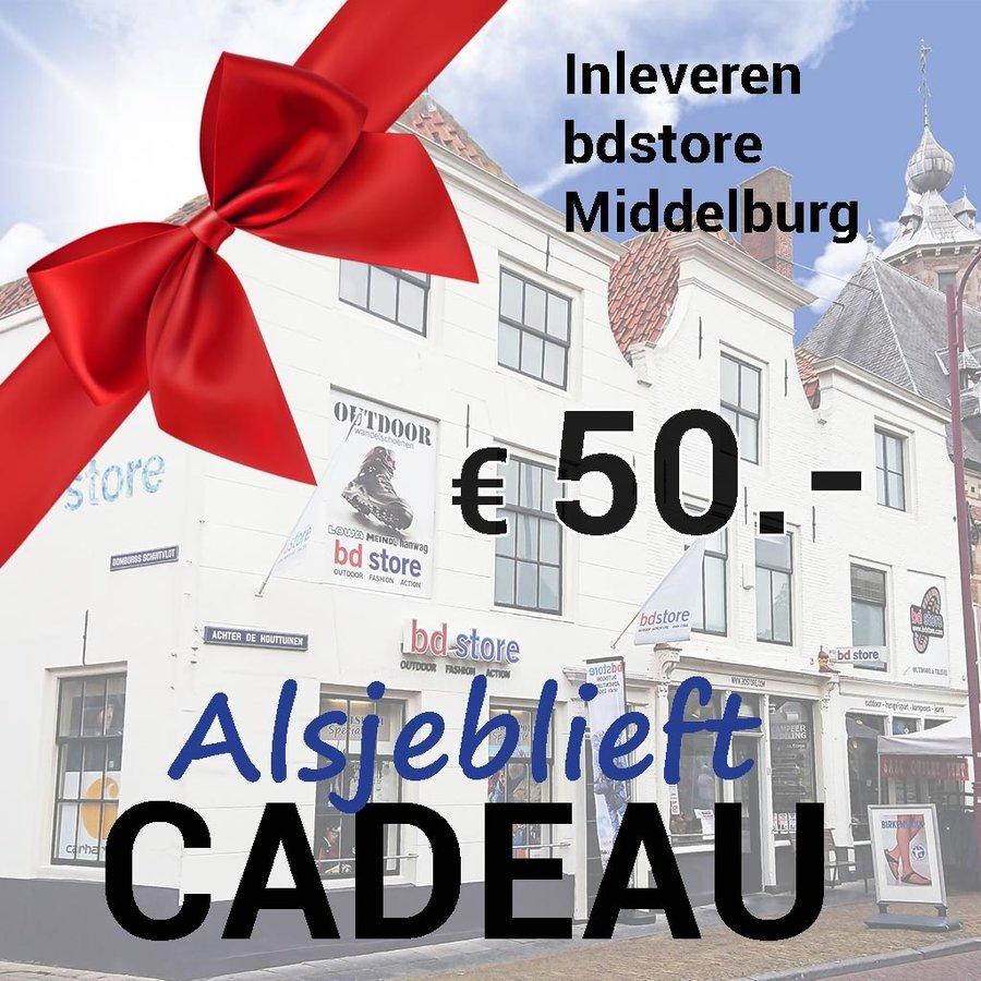 Cadeaubon 50  Euro Winkel Middelburg