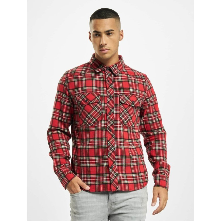 Check Shirt Tartan Flanel Overhemd Heren