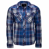 Brandit Check Shirt Navy Flanel Overhemd Heren