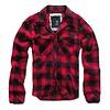 Brandit Check Shirt Rood Zwart Overhemd Heren