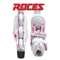 Jokey 3.0 Wit Roze Verstelbaar Inline Skates