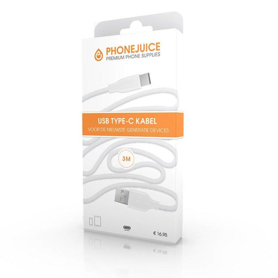 3 meter lange USB-C kabel – Wit