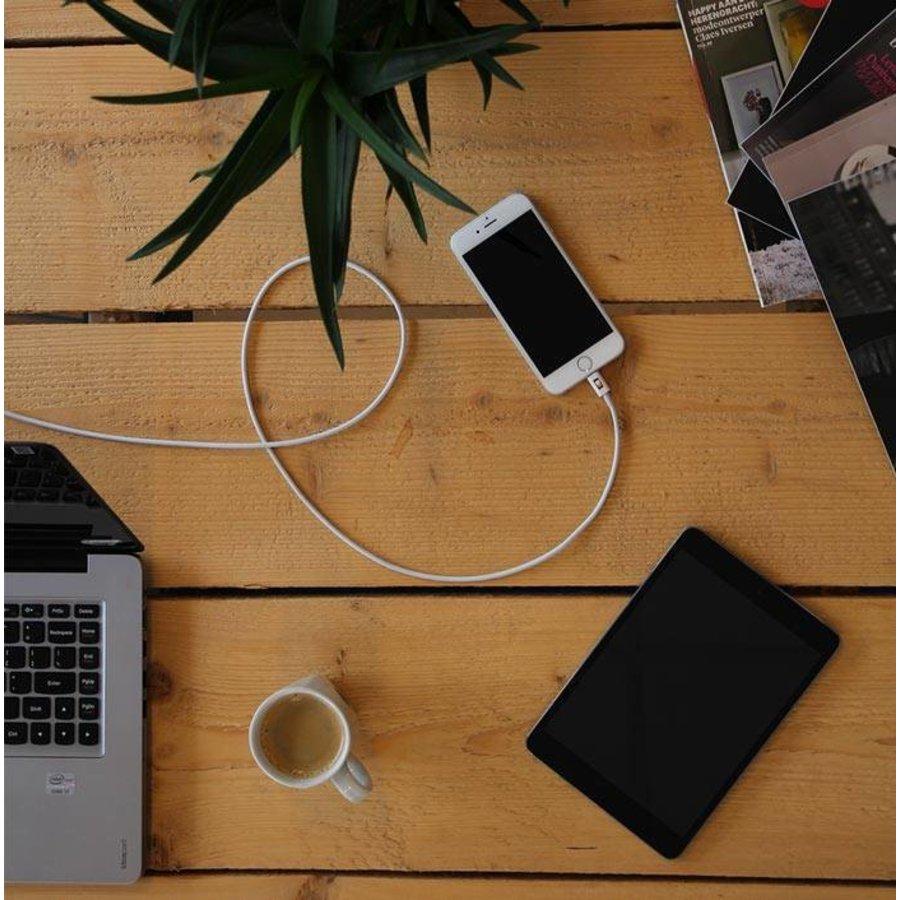 3 meter lange iPhone 5 / 6 / 7 / 8 / X / iPad lightning kabel – Wit