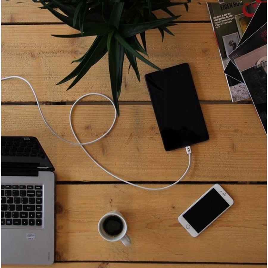 3 meter lange micro USB kabel – Wit