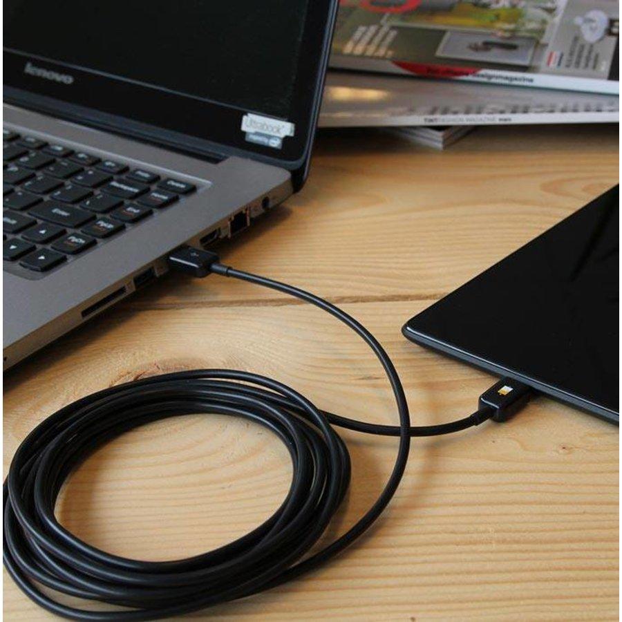 3 meter lange micro USB kabel – Roze