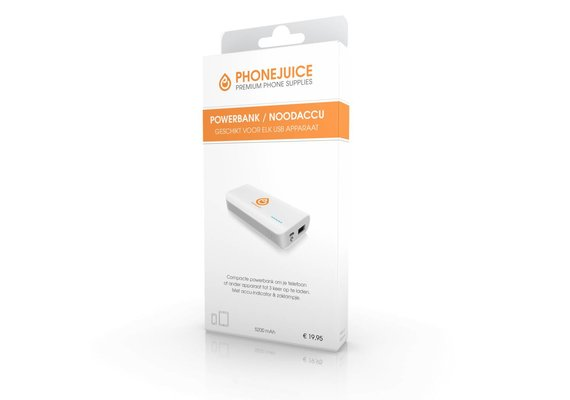 PhoneJuice Powerbank 5200 mAh