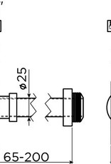 Minisuk hand basin siphon