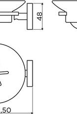 Flat porte-savon