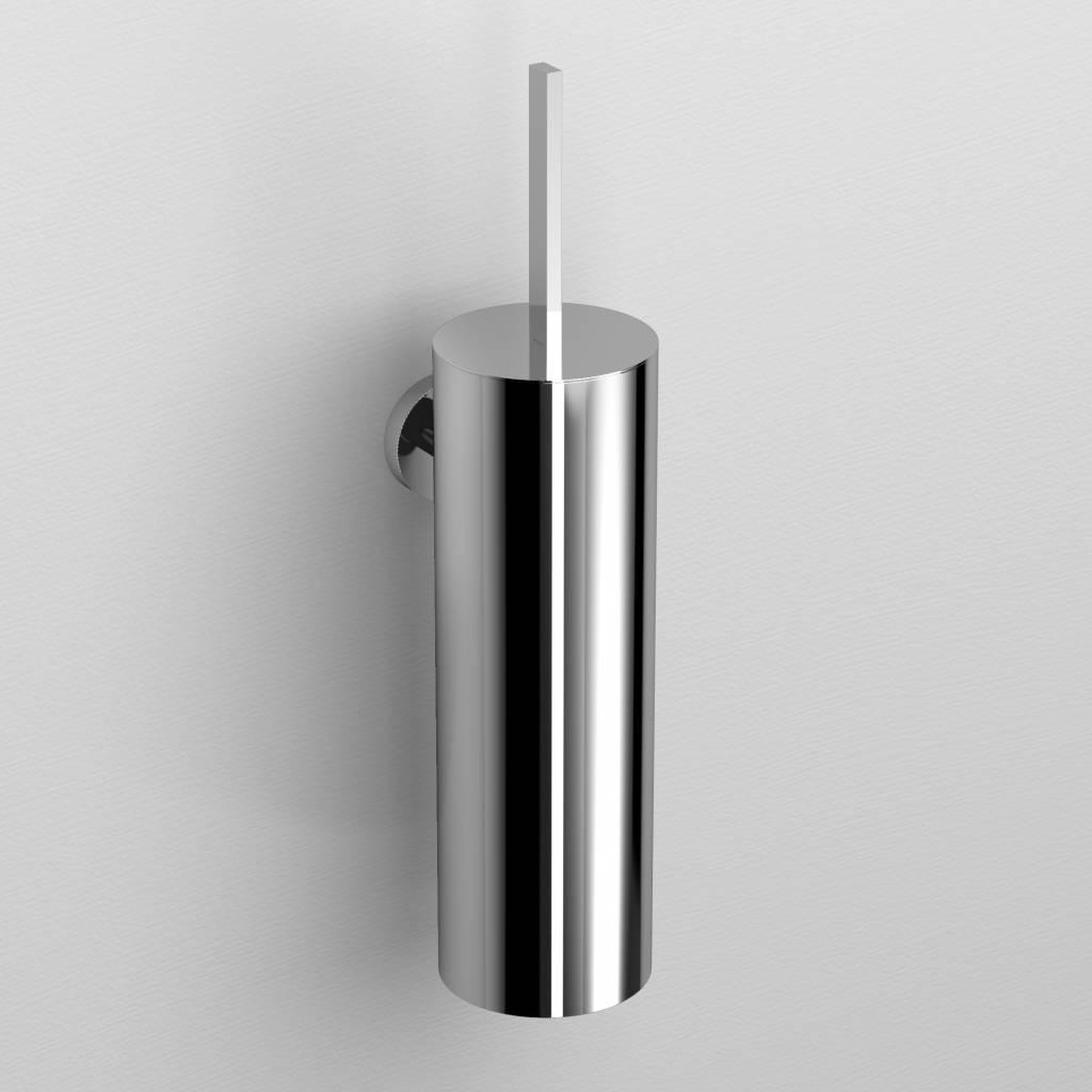 Flat toilet brush holder, wall mounted