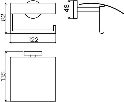 Flat toiletrolhouder met klep