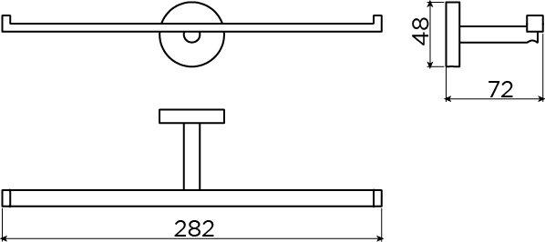Flat porte-rouleau double