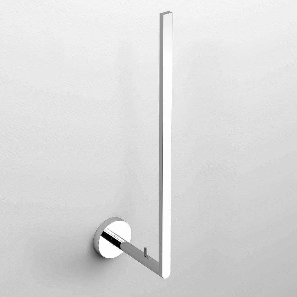 Flat backup toilet paper holder
