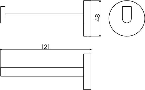 Flat porte-rouleau