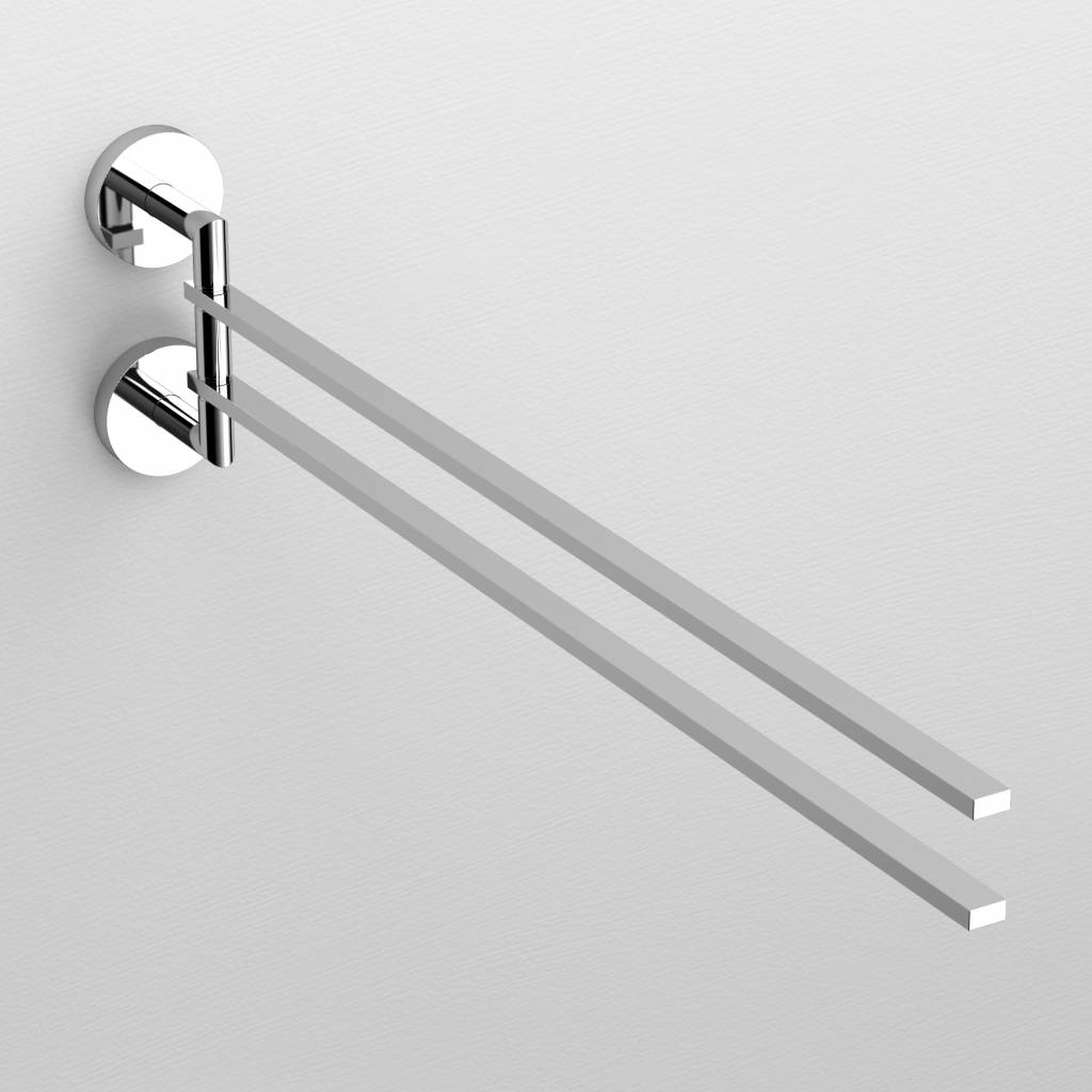 Flat moveable double towel rail