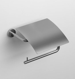 Slim toilet paper holder with lid