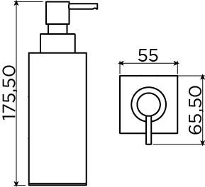 Quadria soap dispenser 200cc, freestanding