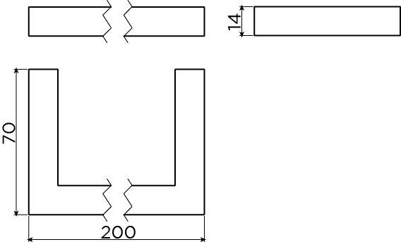 Quadria towel rail 20 cm