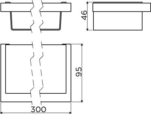 Quadria bath/shower shelf