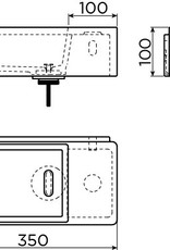 New Flush 3 hand basin right