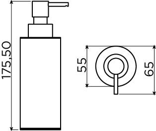 Sjokker soap dispenser 200cc, freestanding