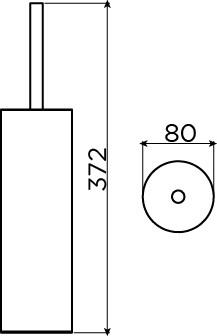 Sjokker toilet brush holder, freestanding