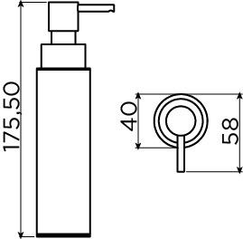 Sjokker distributeur de savon 100cc, à poser