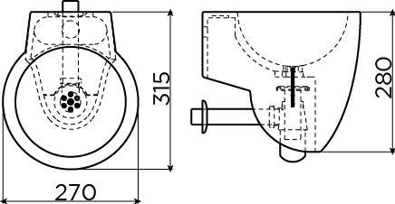 Flush 6 ensemble du lave-mains