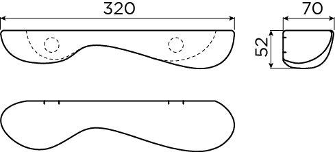 Cliff badkamer planchet 32 cm