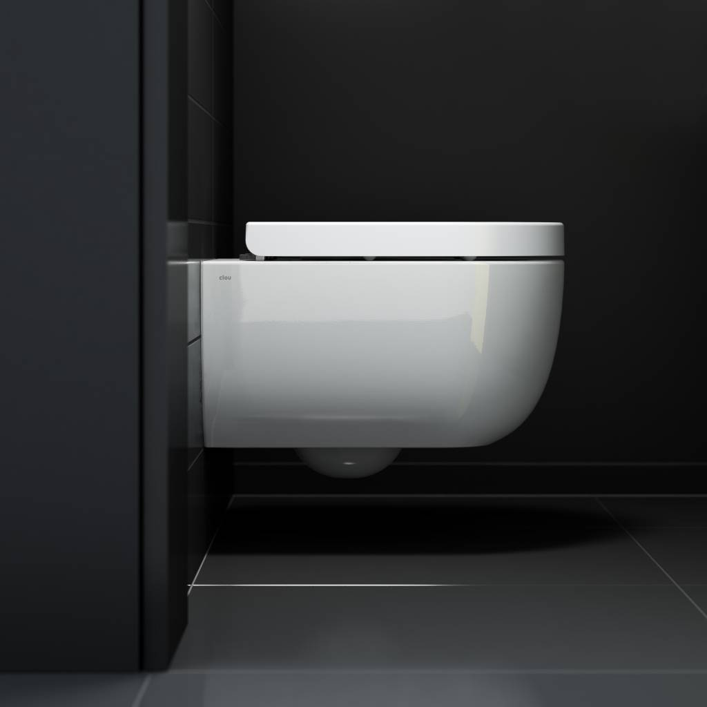 Hammock rimless toilet 49cm with seat and cover
