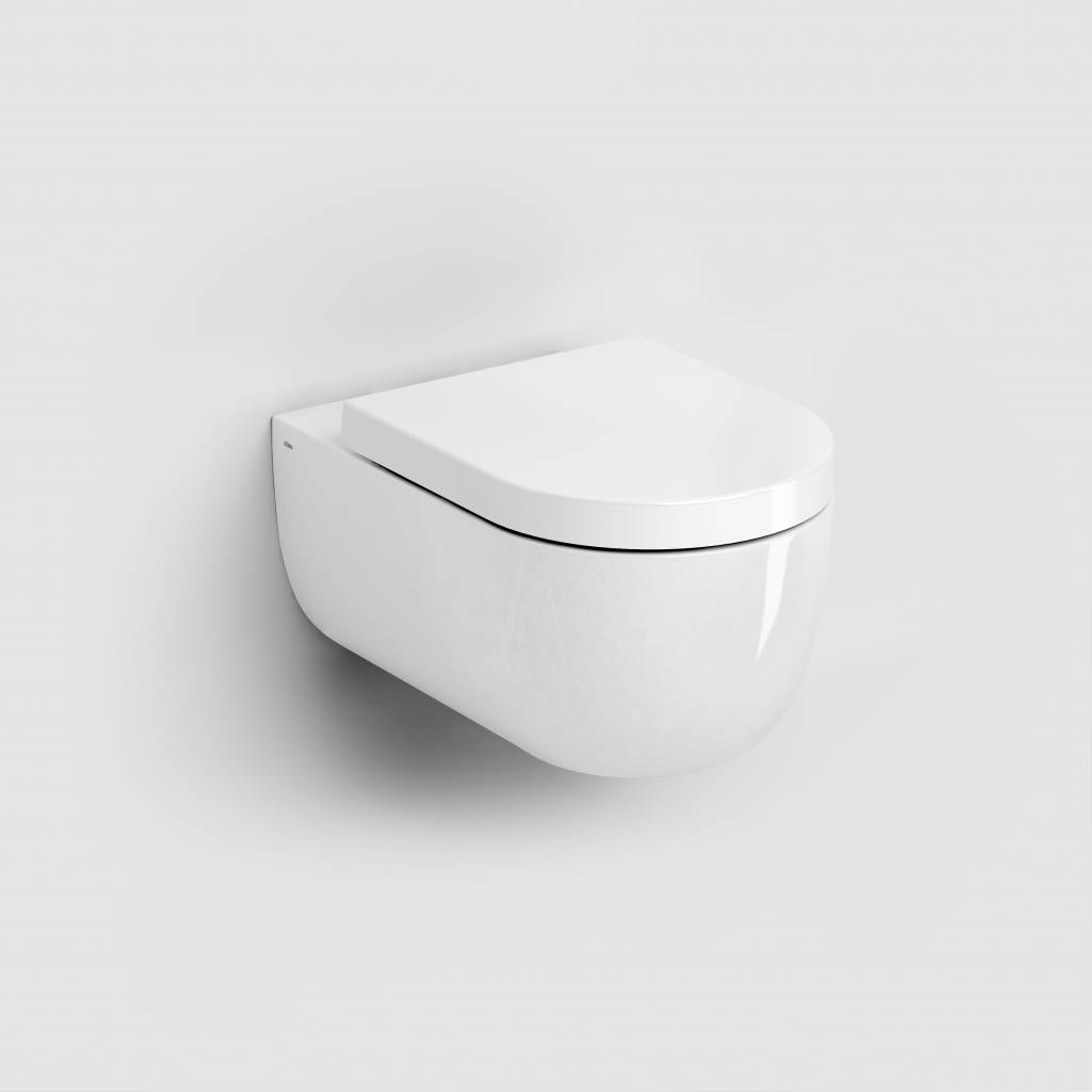 Hammock rimless toilet 56cm with seat and cover