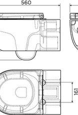 Hammock randloze wandtoilet 56cm met zitting en deksel