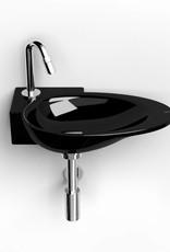 First lave-mains avec plage pour robinet à gauche - vente -60%