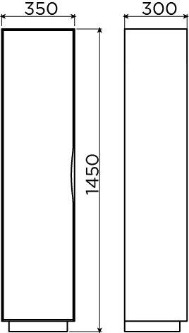 First colonne, placage de zebrano - vente -60%