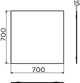 Match Me spiegel cm met blinde bevestiging - uitverkoop -60%