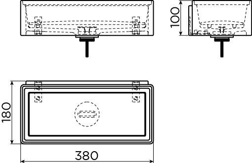 New Flush 3.1 lave-mains avec tablette couvre-bonde