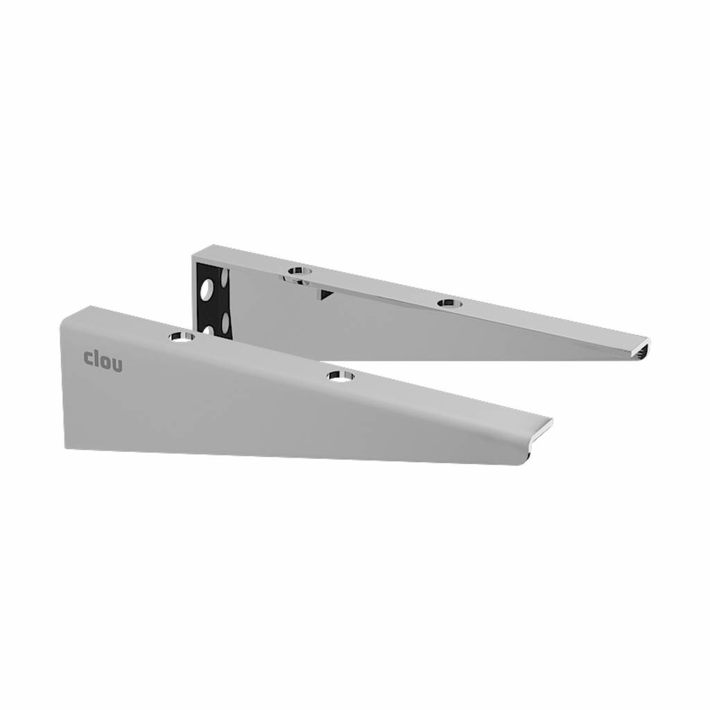 First small supports for First handbasin shelves, polished or brushed stainless steel