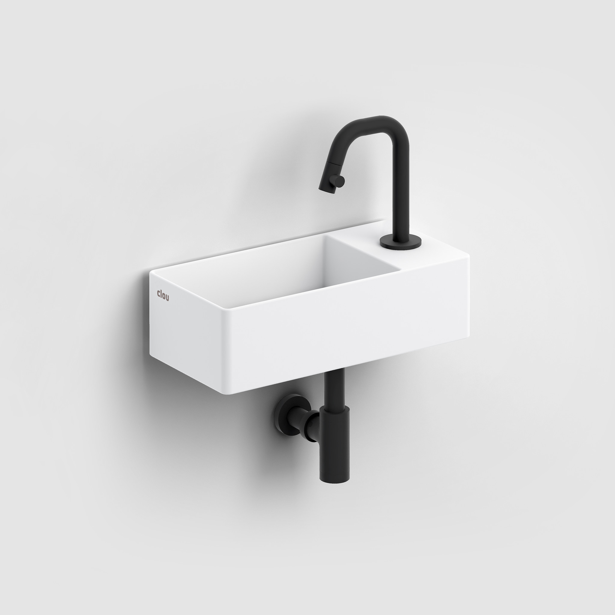 Kaldur cold water tap black