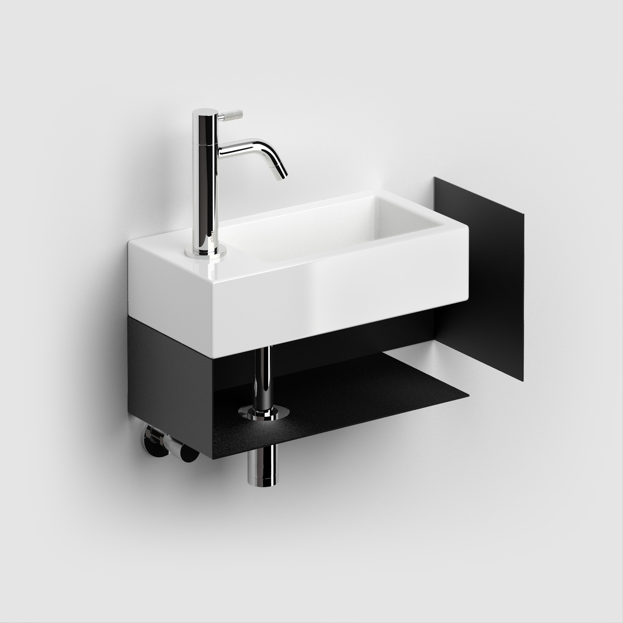 Flush open cabinet with towel holder for Flush 3
