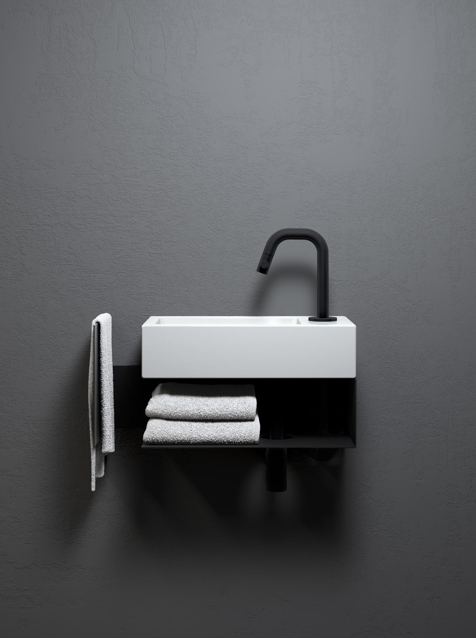 Flush open kast met handdoekhouder t.b.v. Flush 3